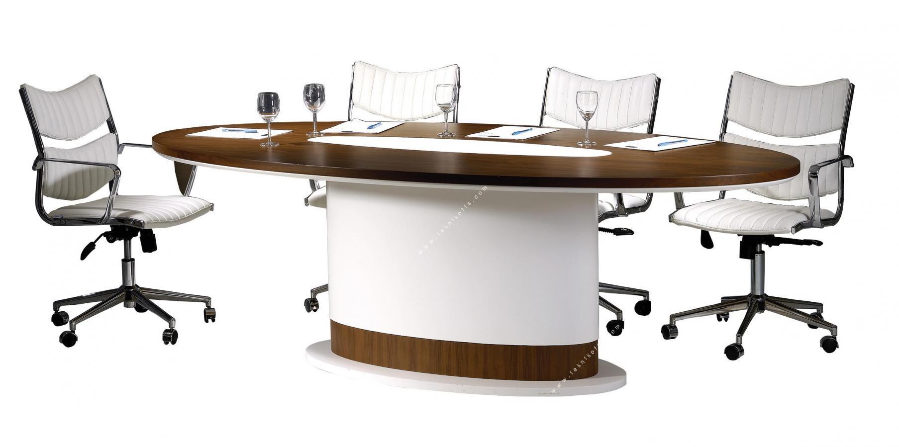 argent beyaz tasarım toplantı masası 280cm
