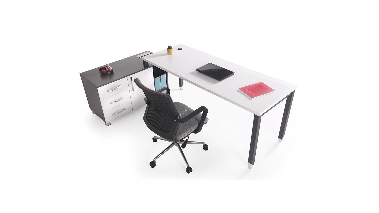 aveon etajerli çalışma masası 220cm