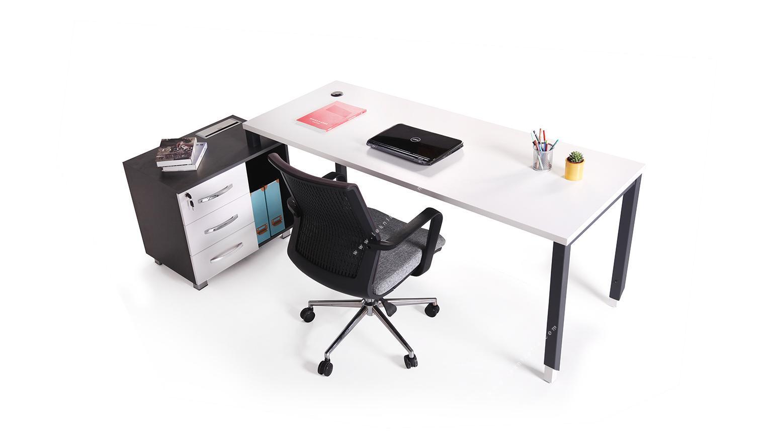 aveon küçük etajerli çalışma masası 180cm