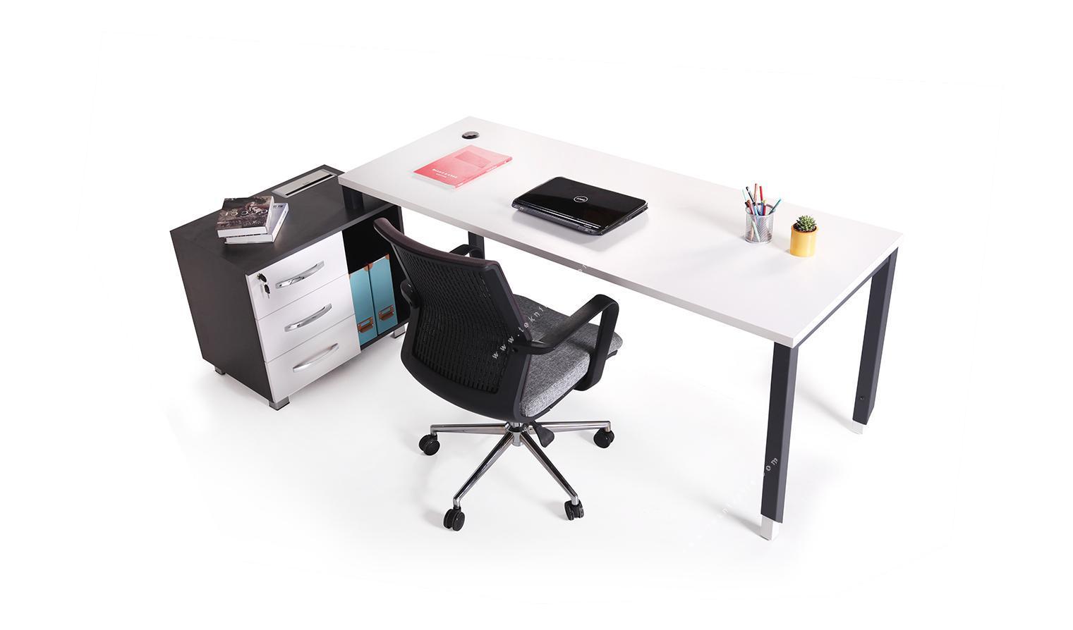 aveon küçük etajerli çalışma masası 200cm