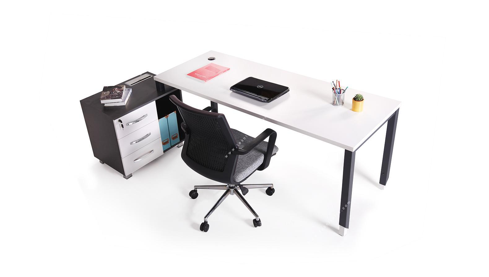 aveon küçük etajerli çalışma masası 220cm