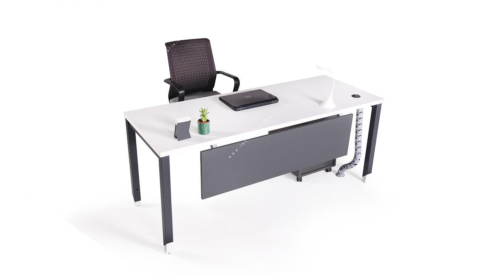 aveon metal ayaklı çalışma masası 140cm