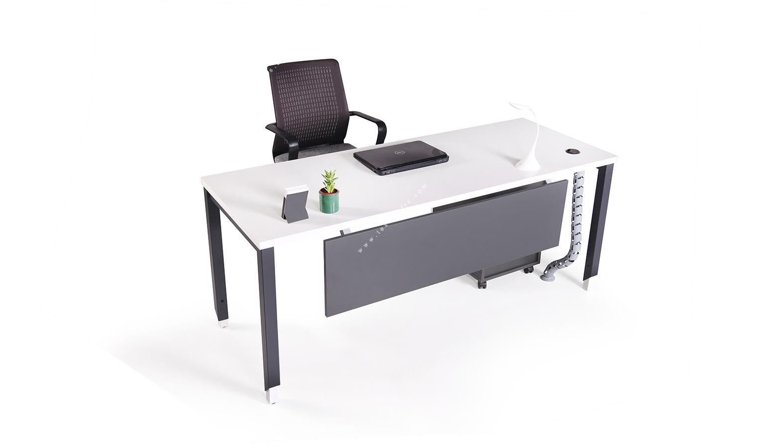 aveon metal ayaklı çalışma masası 160cm