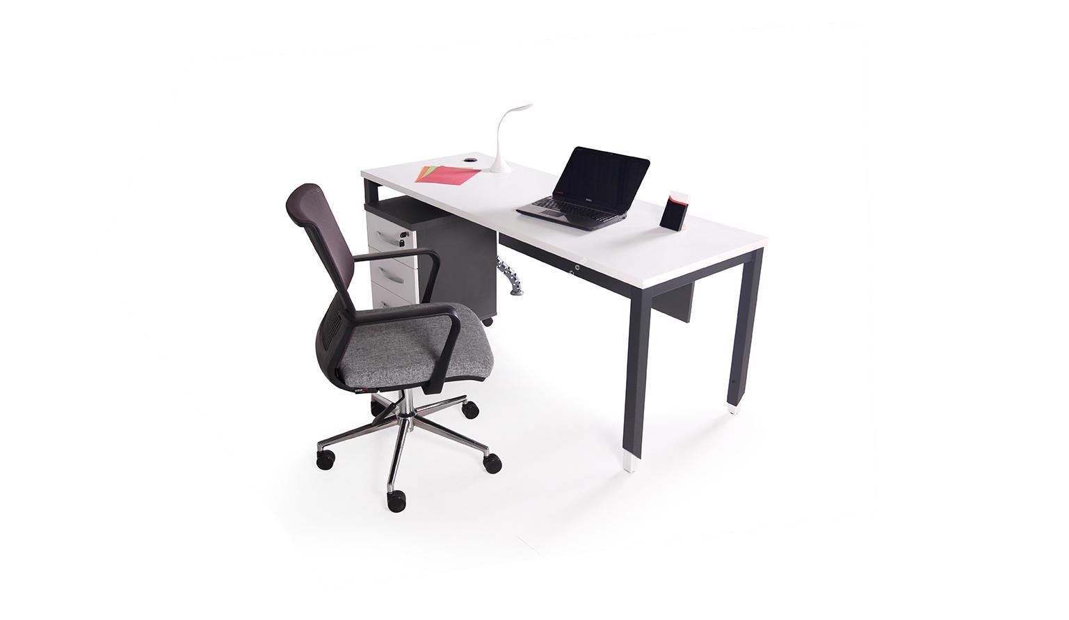 aveon metal ayaklı çalışma masası 180cm