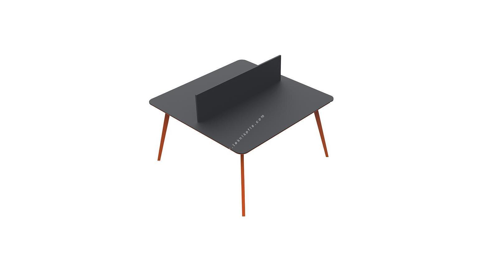 blade ikili çalışma masası 180cm