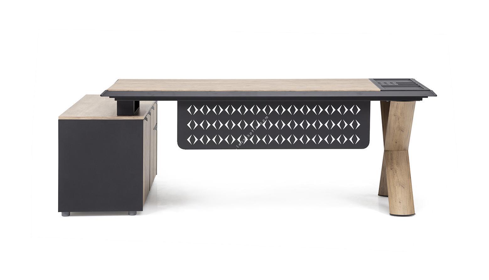 captiva etajerli yönetici masası 180cm