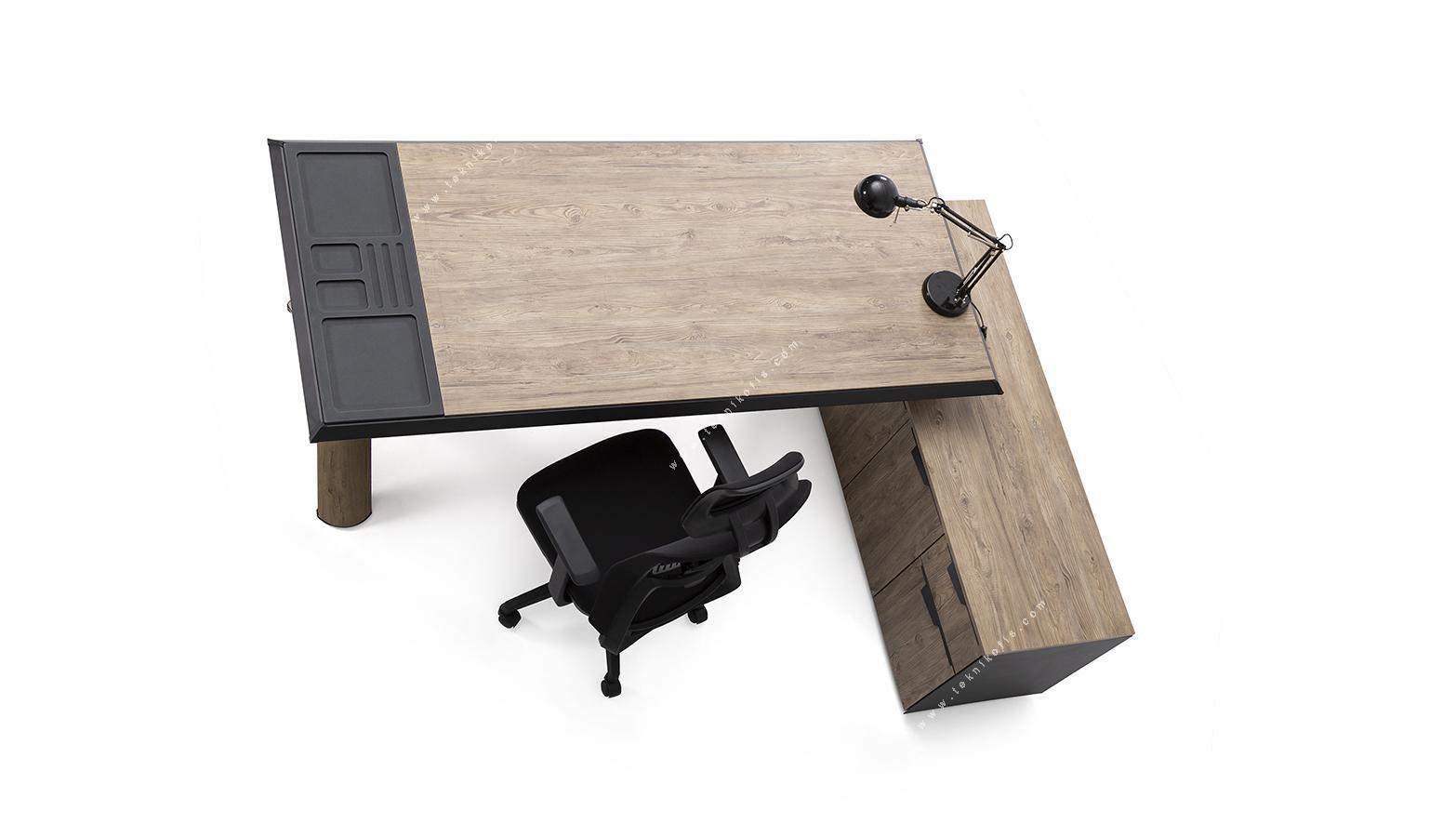 captiva etajerli yönetici masası 200cm