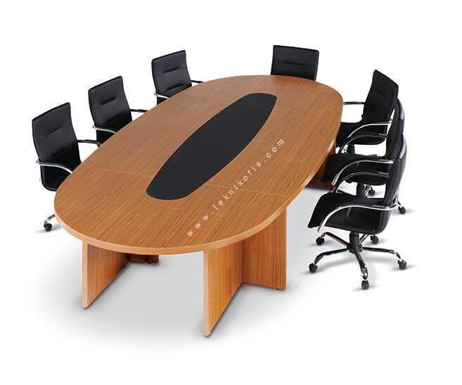 Carle Oval Sümenli Toplantı Masası 500cm