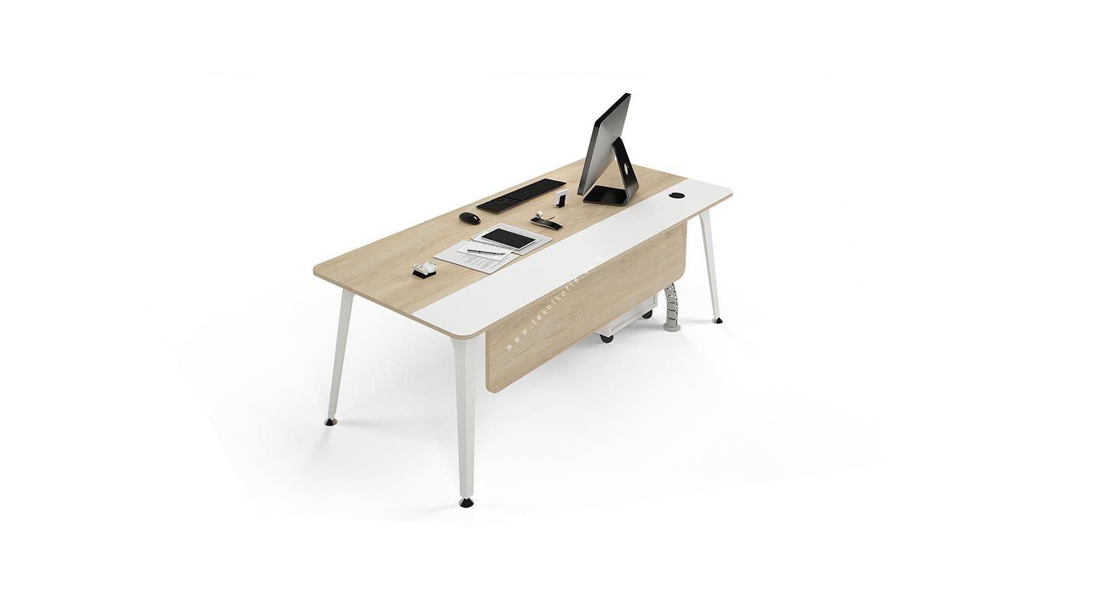 centra dört ayaklı personel masası 180cm