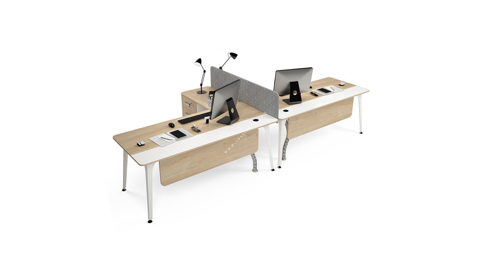 centrawork kumaş seperatörlü ikili çalışma masası 322cm