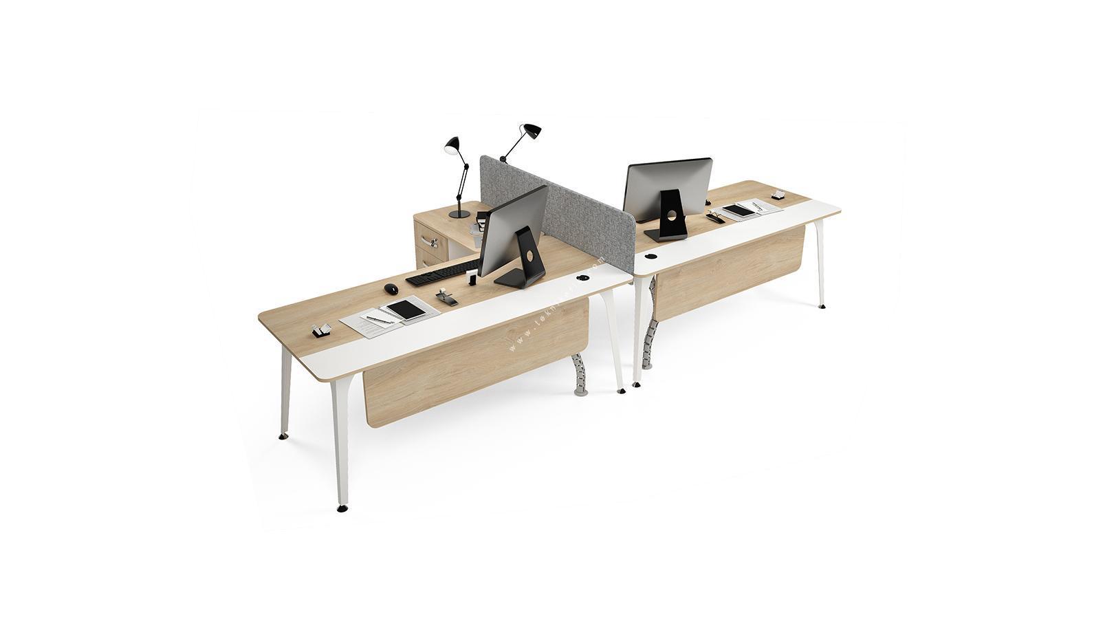centrawork kumaş seperatörlü ikili çalışma masası 362cm
