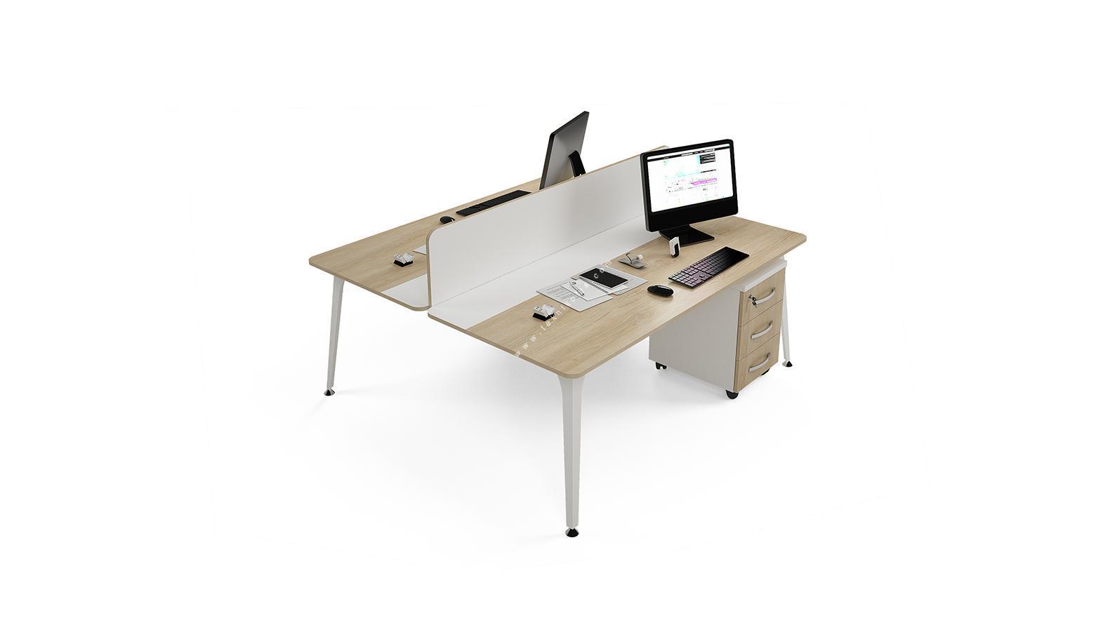 centrawork melamin seperatörlü ikili çalışma masası 140cm