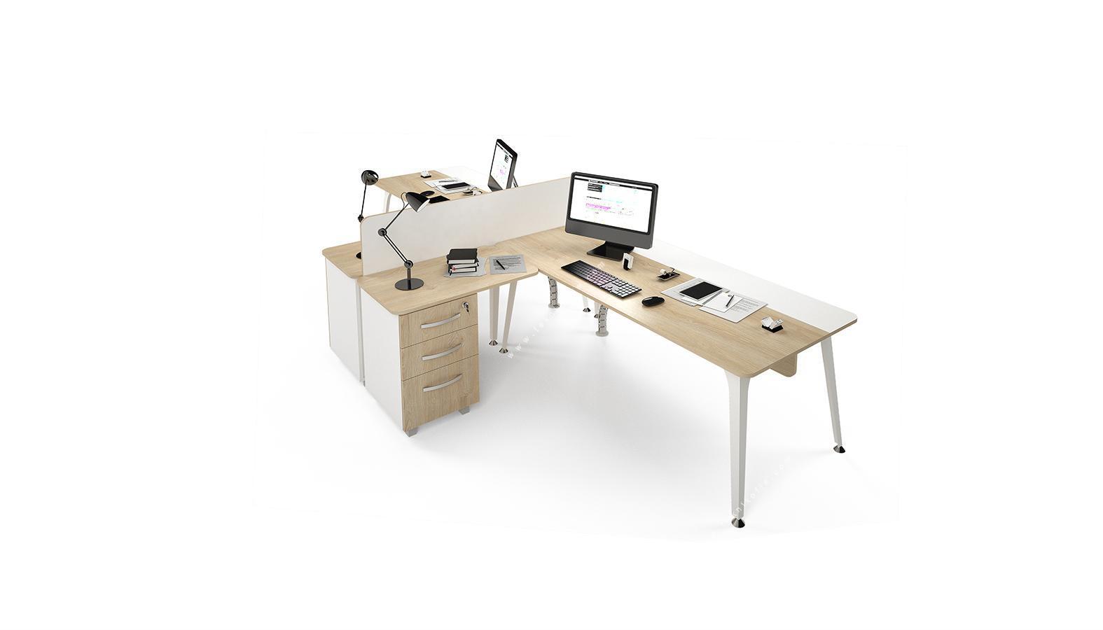 centrawork melamin seperatörlü ikili çalışma masası 362cm