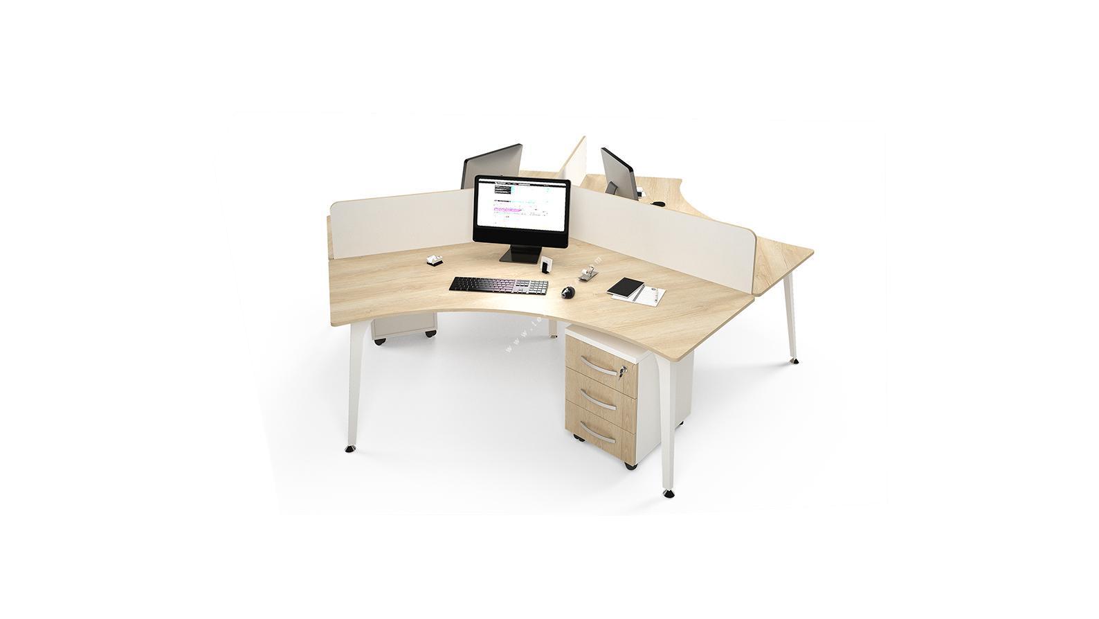 centrawork melamin seperatörlü üçlü çalışma masası