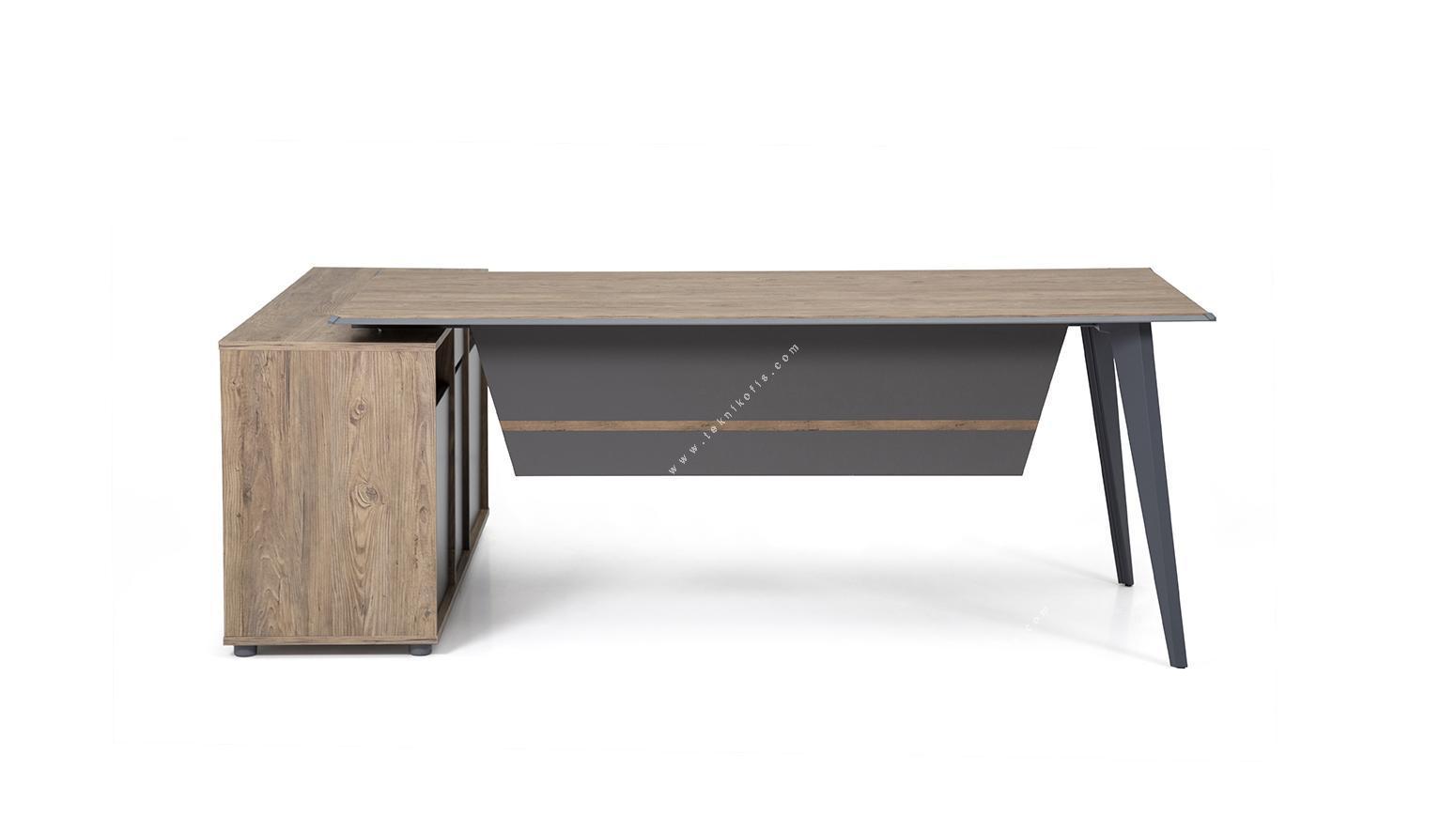 chesplus iki ayaklı çerçeveli personel masası 180cm