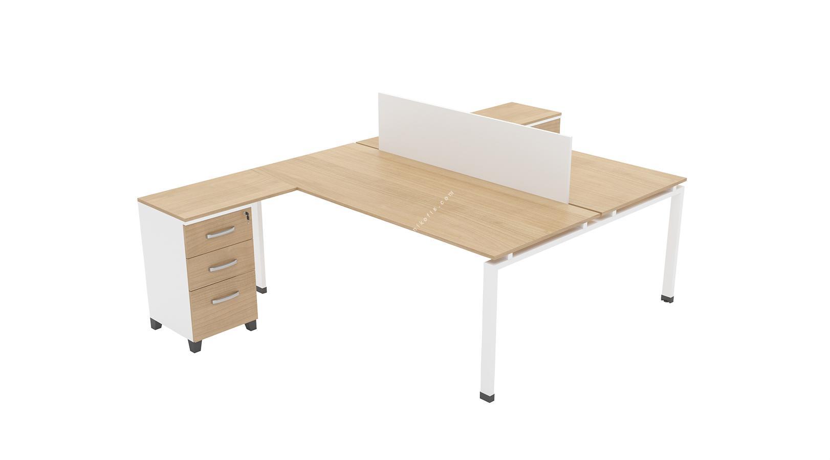 comentwork l masalı ikili workstation 140 cm