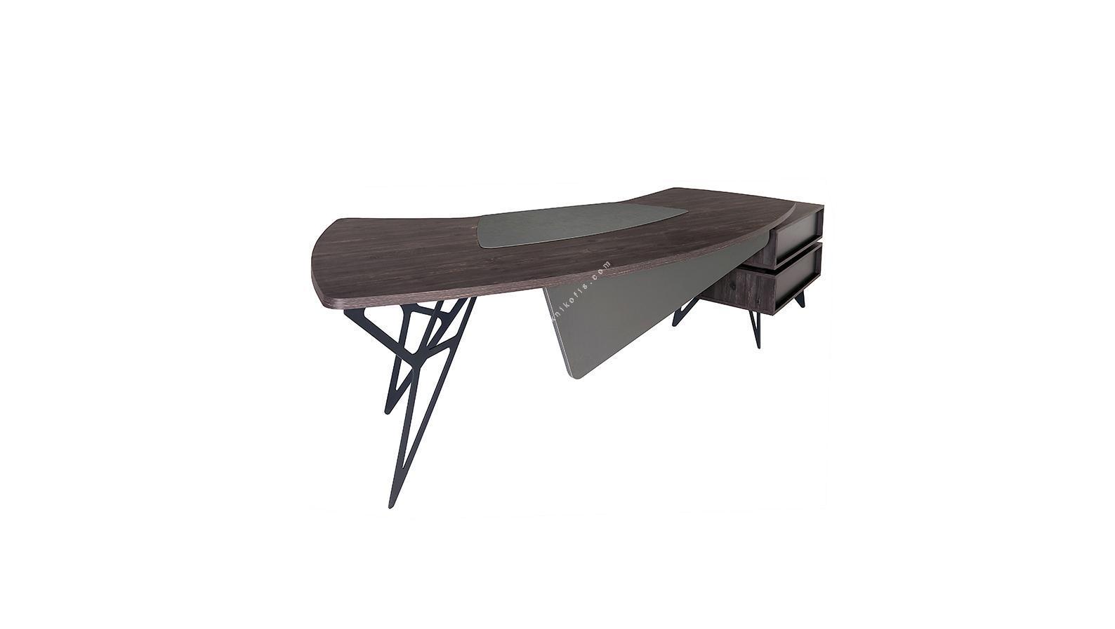 coral sol etajerli makam masası 265cm