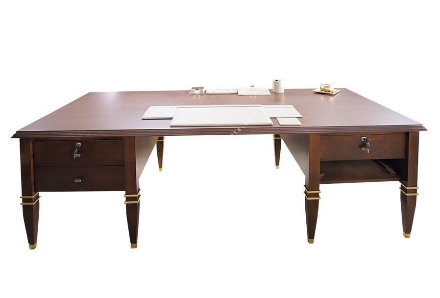 davos varaklı makam masası