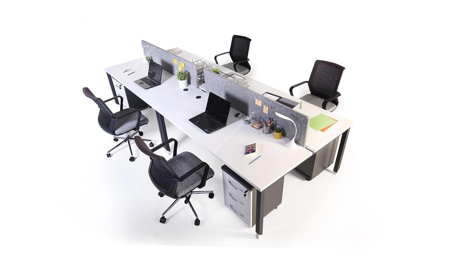dicone dörtlü masa 360cm kumaş seperatör