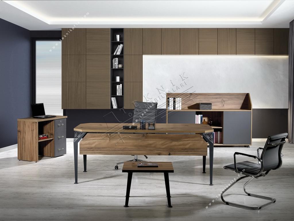 elzem ofis mobilya takımı 200cm