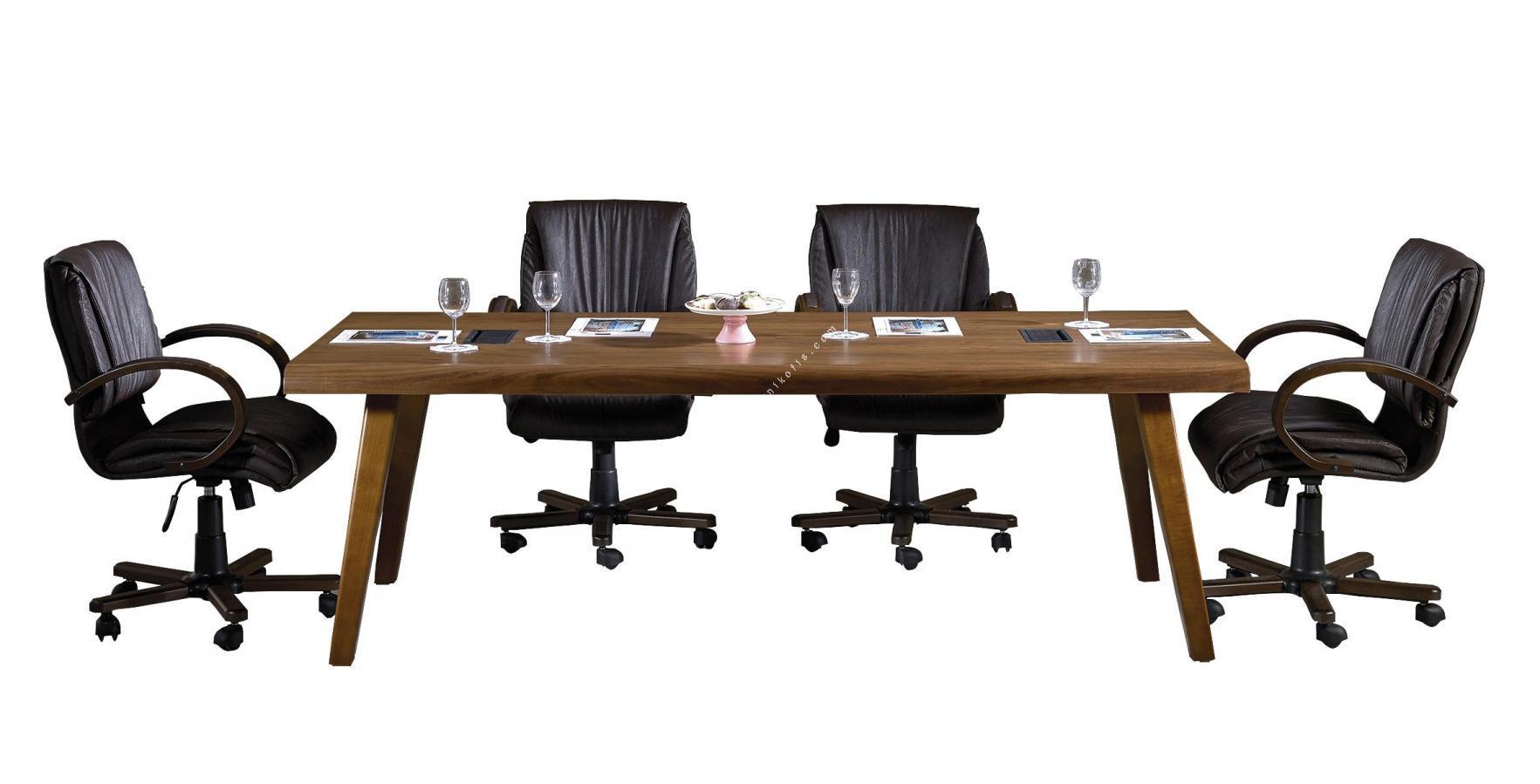 fame ahşap toplantı masası 280cm