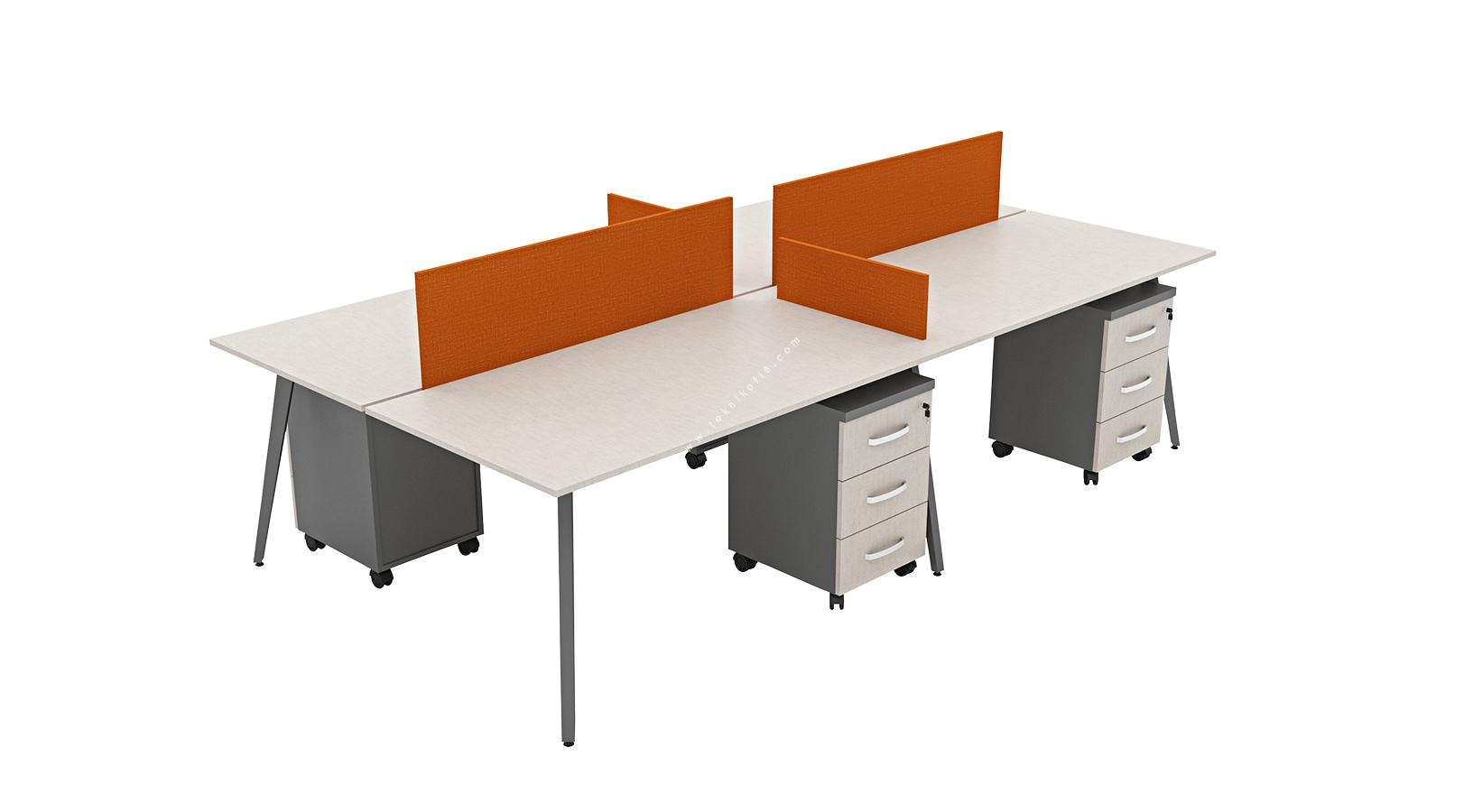 fanovawork dörtlü workstation 320cm