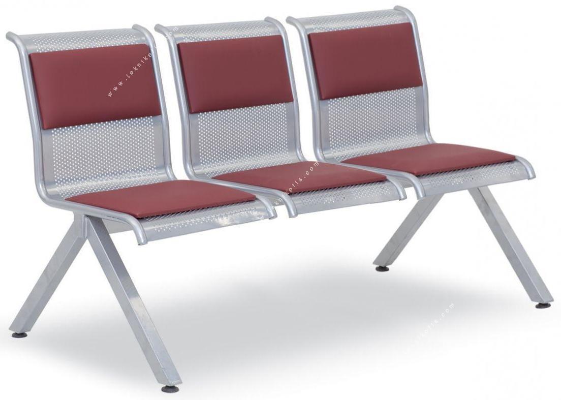 fondip metal üçlü bekleme koltuğu