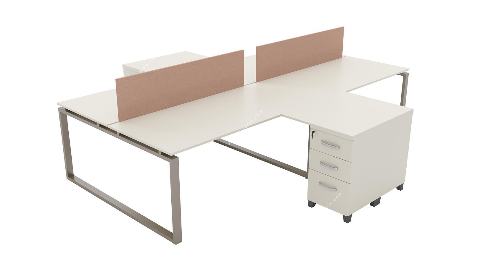 graver l masalı dörtlü workstation 320cm