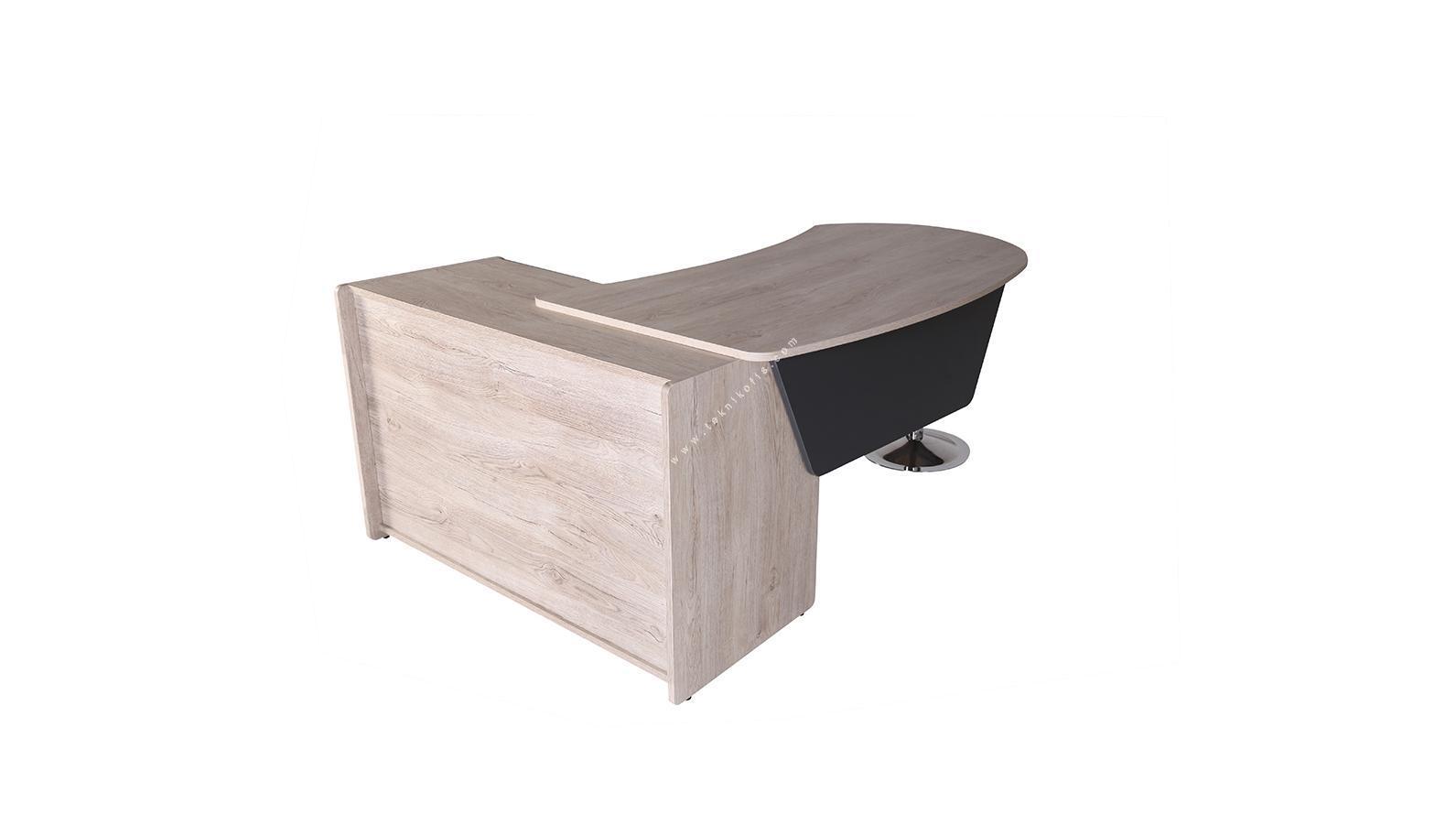 kolena sağ etajerli yönetici masası 180cm
