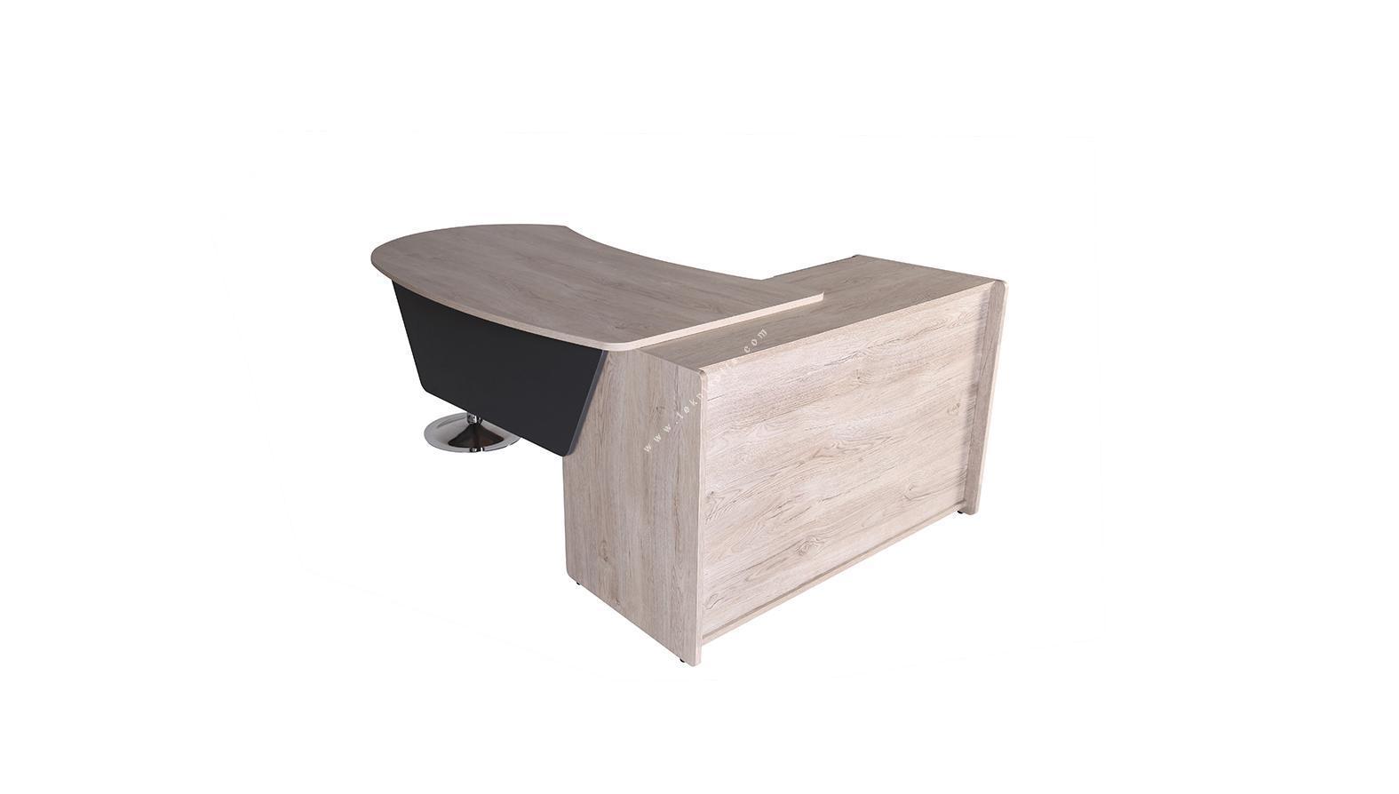 kolena sol etajerli yönetici masası 160cm