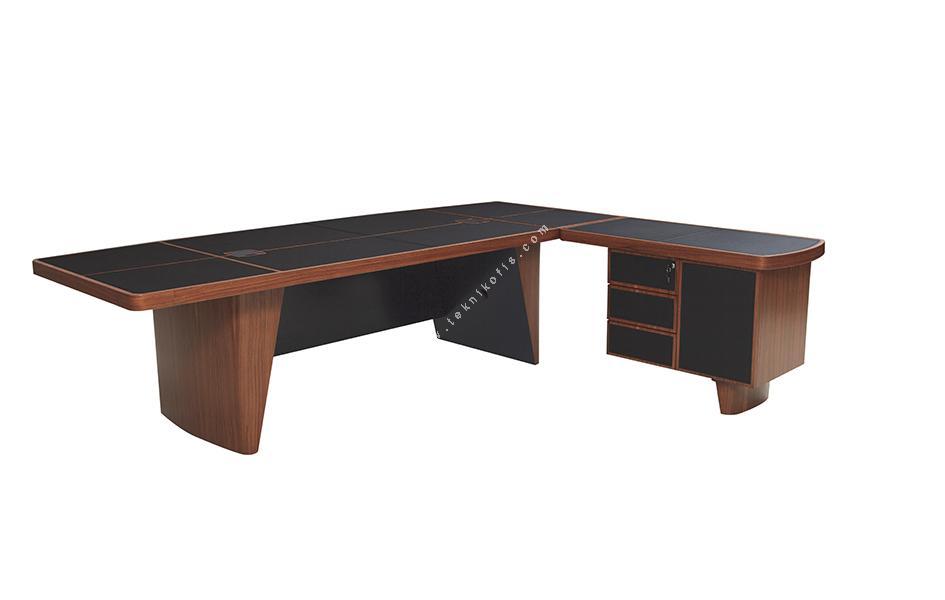 leather cilalı derili makam masası