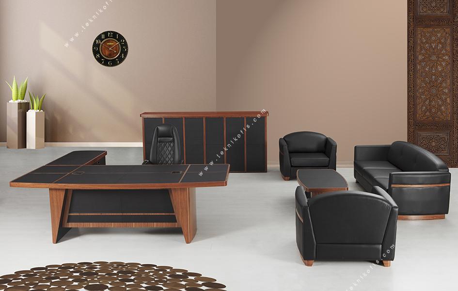 leather cilalı derili makam takımı