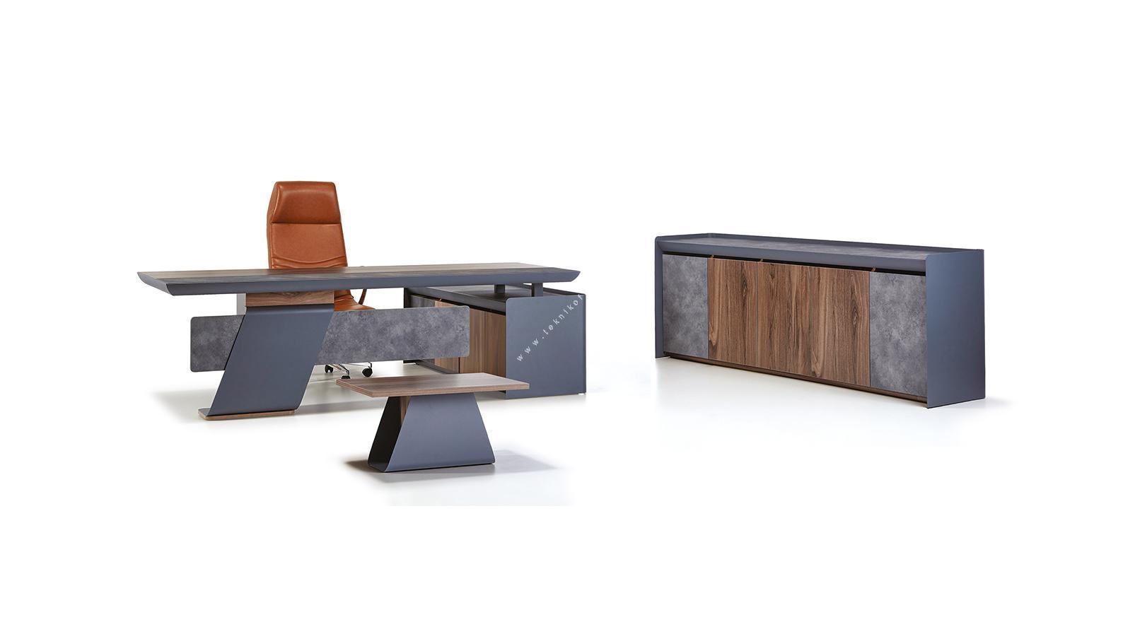 lonera metal ayaklı modern yönetici ofis mobilyası