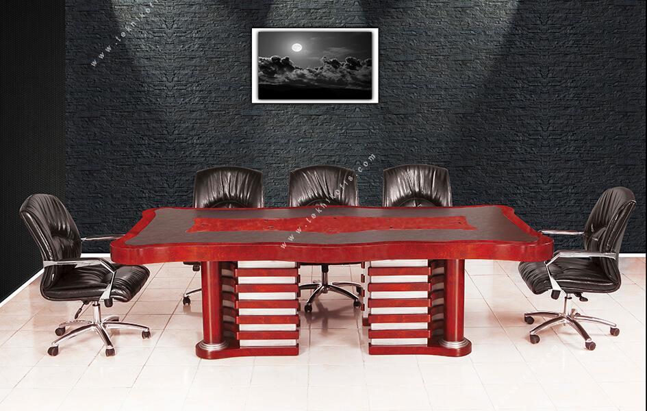 lord  doğal ahşap vip toplantı masası 260cm