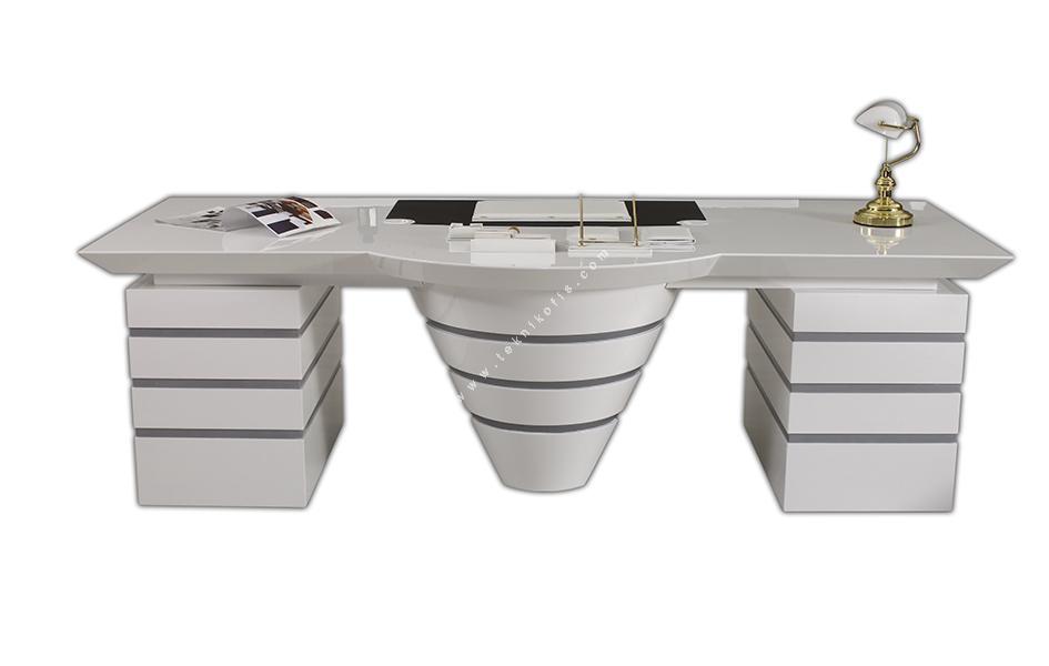 magnesia ahşap modern makam masası