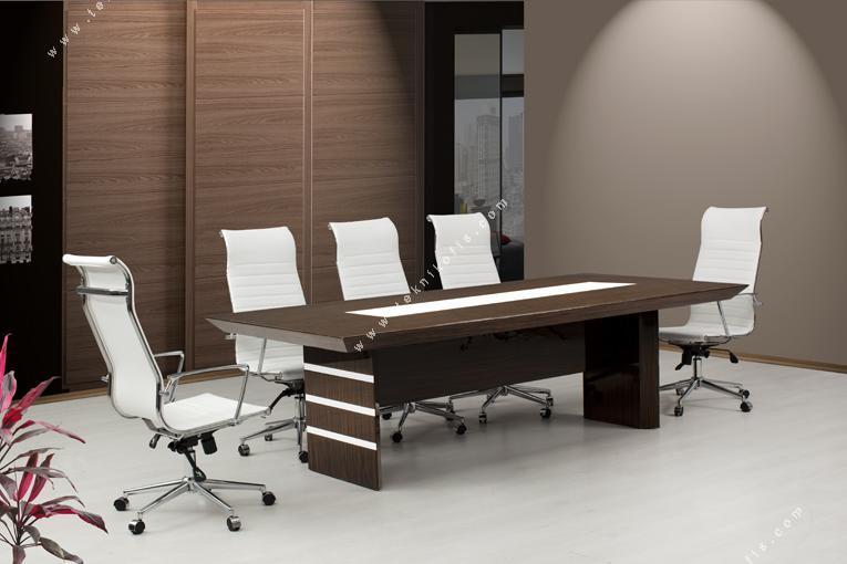 magnesia ahşap modern toplantı masası 350cm