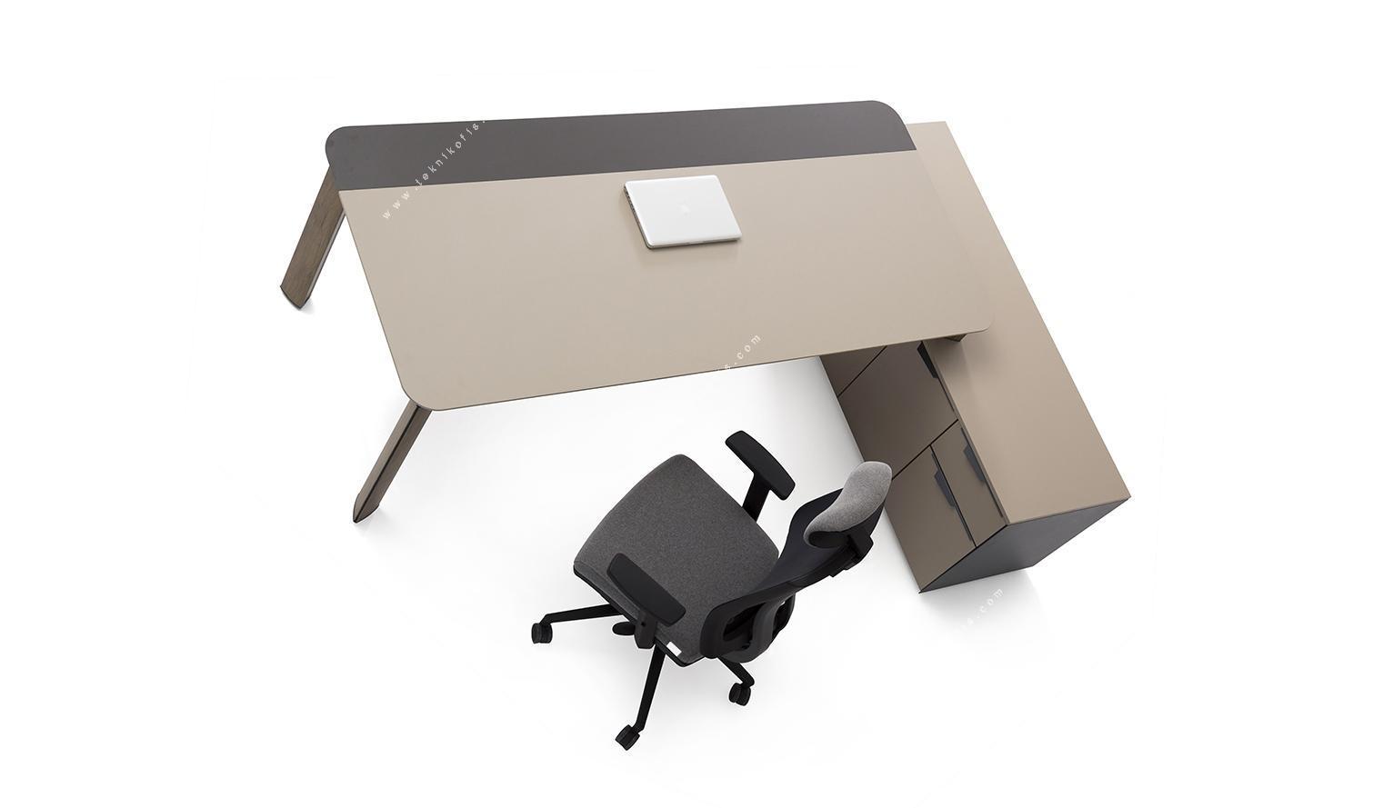 manola etajerli yönetici masası 200cm