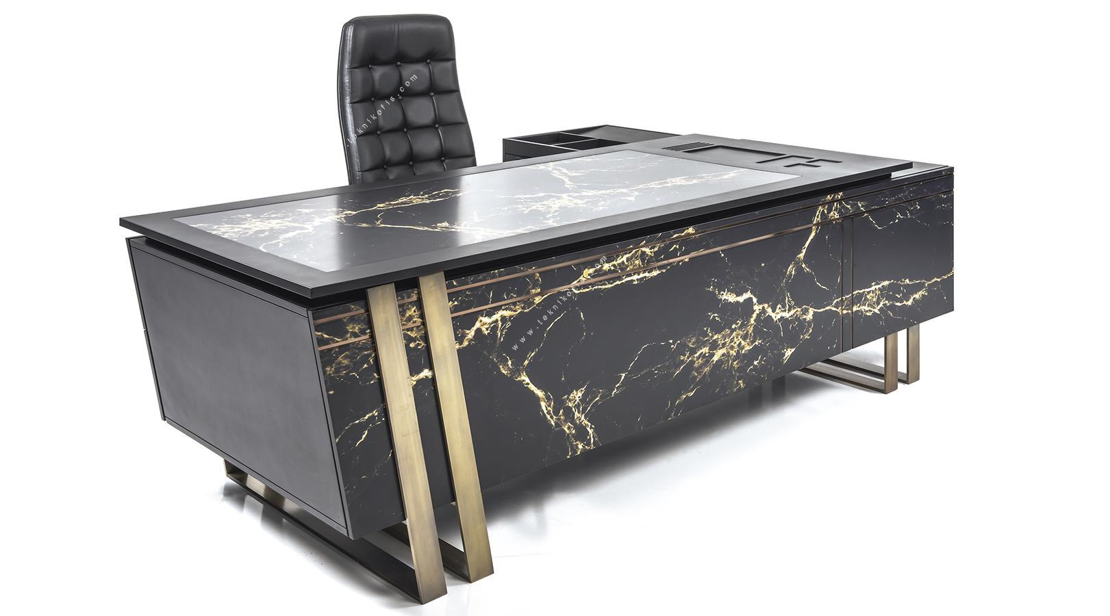 marwel etajerli yönetici masası