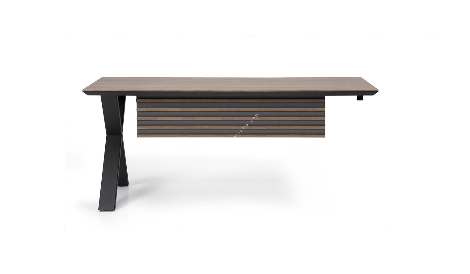 metavias etajerli yönetici masası 180cm