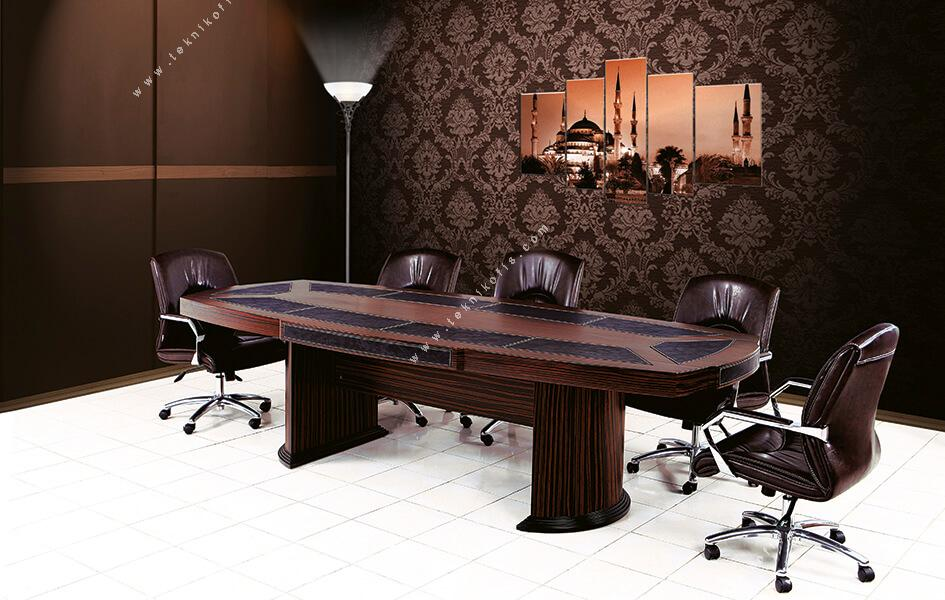 mikanos derili ahşap toplantı masası 350cm