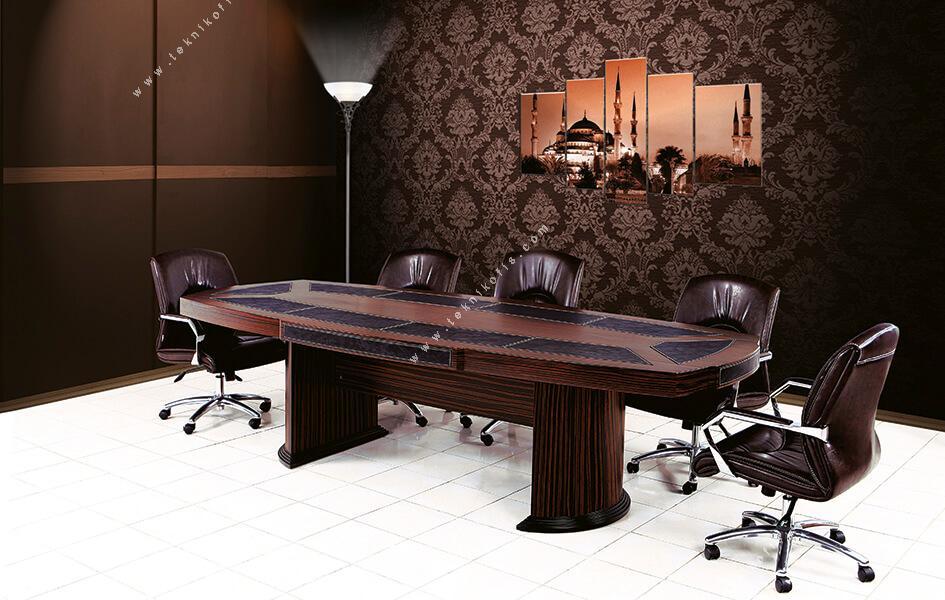 mikanos derili ahşap toplantı masası 400cm