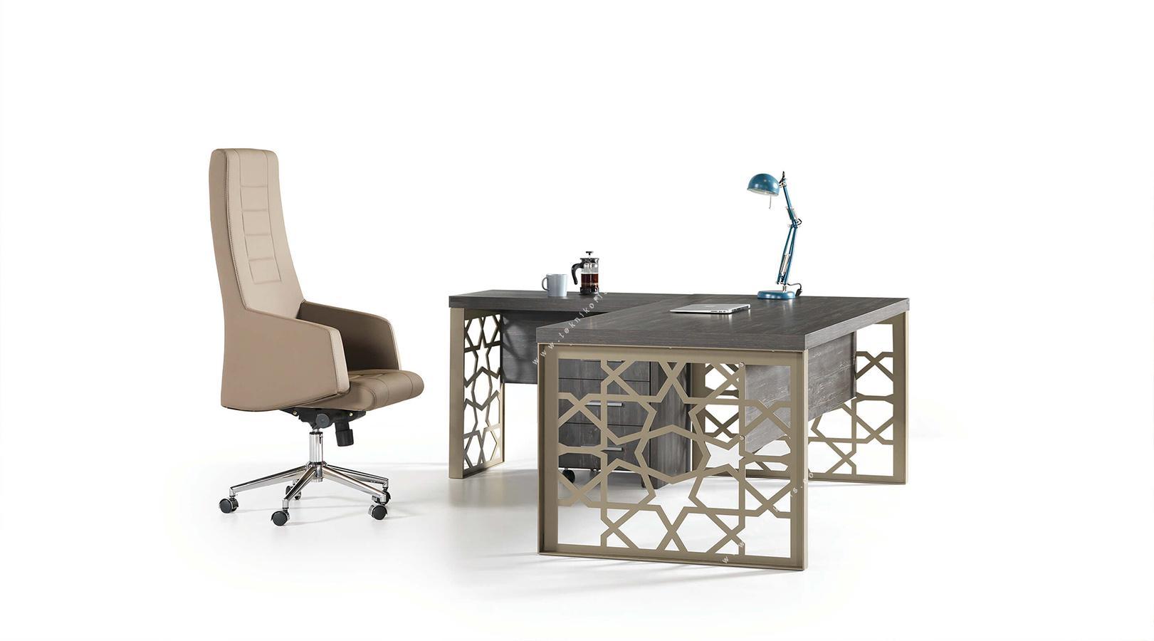 monera metal ayaklı masa 180cm