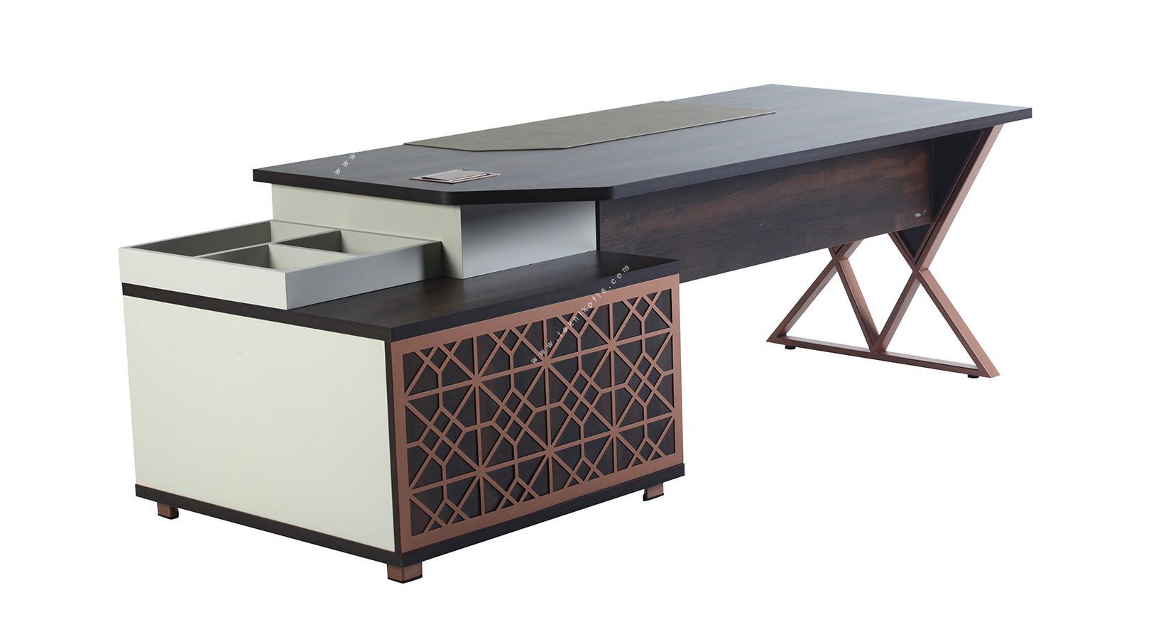 monetary sağ etajerli makam masası 260cm