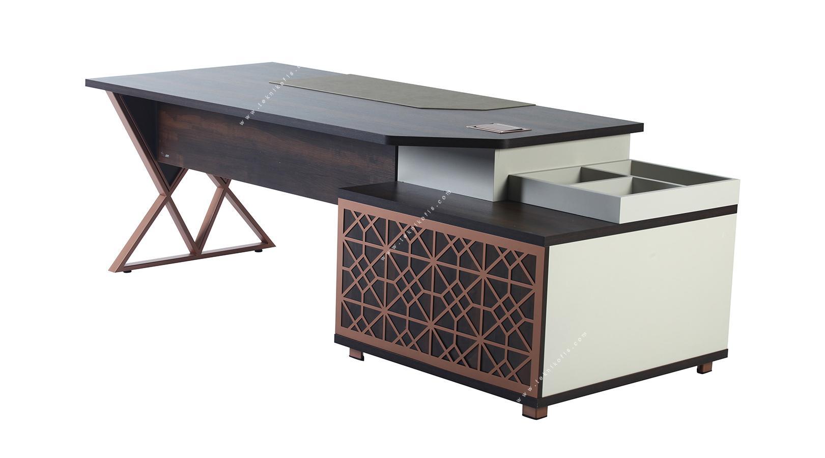 monetary sol etajerli makam masası 260cm