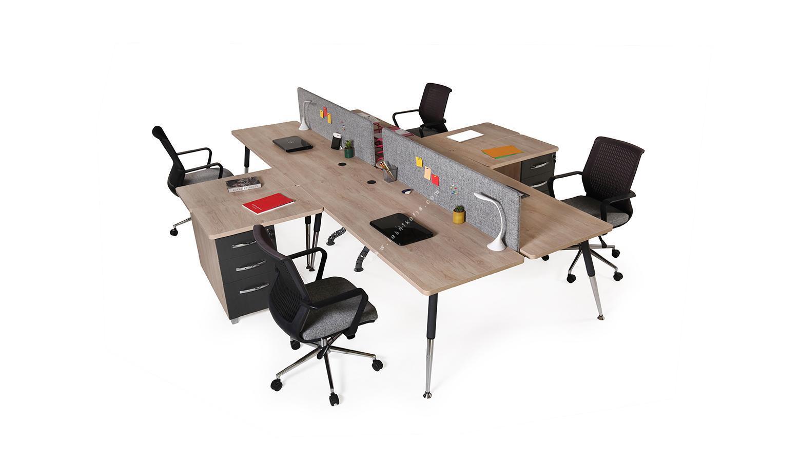nario 360cm dörtlü masa kumaş seperatör