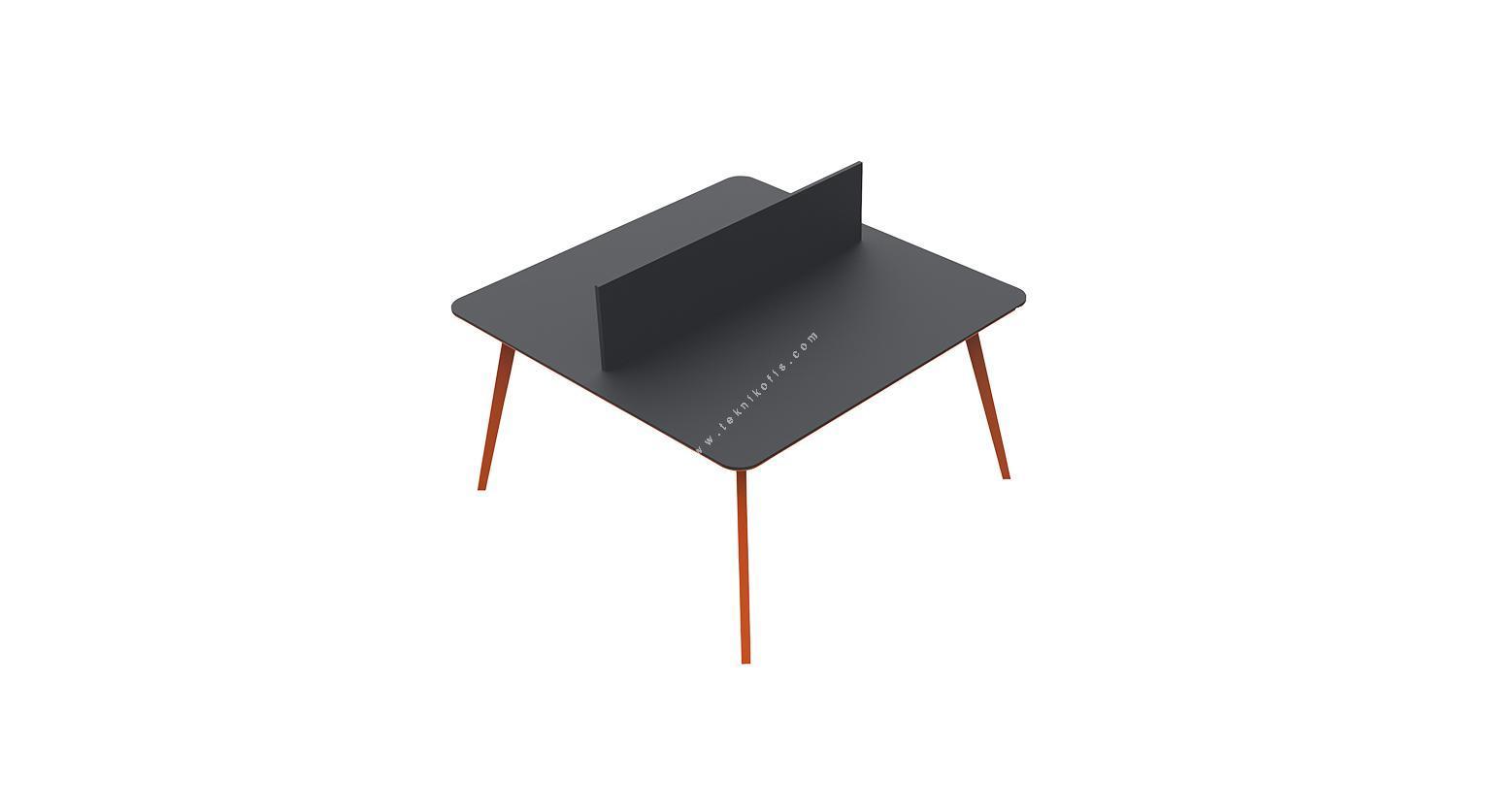 newvega ikili çalışma masası 4 ayaklı 180cm