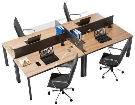 olas dörtlü çalışma masası 240cm