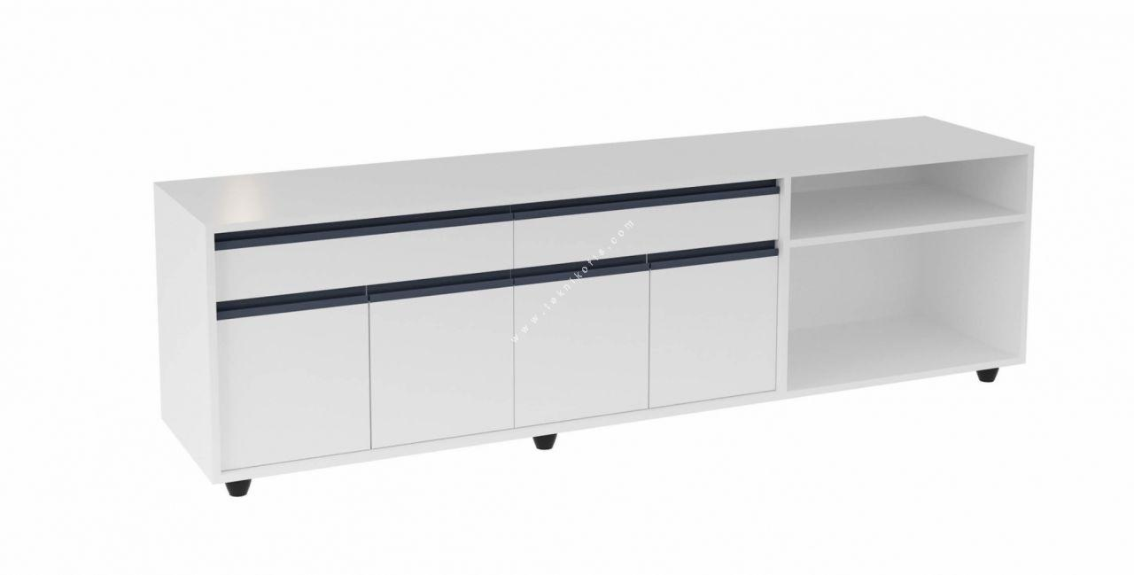 palo çekmece ve kapaklı pratik ek modullü etajer