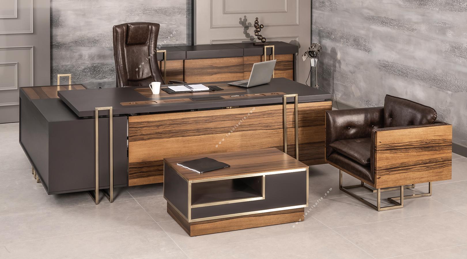 patran modern yönetici mobilyası