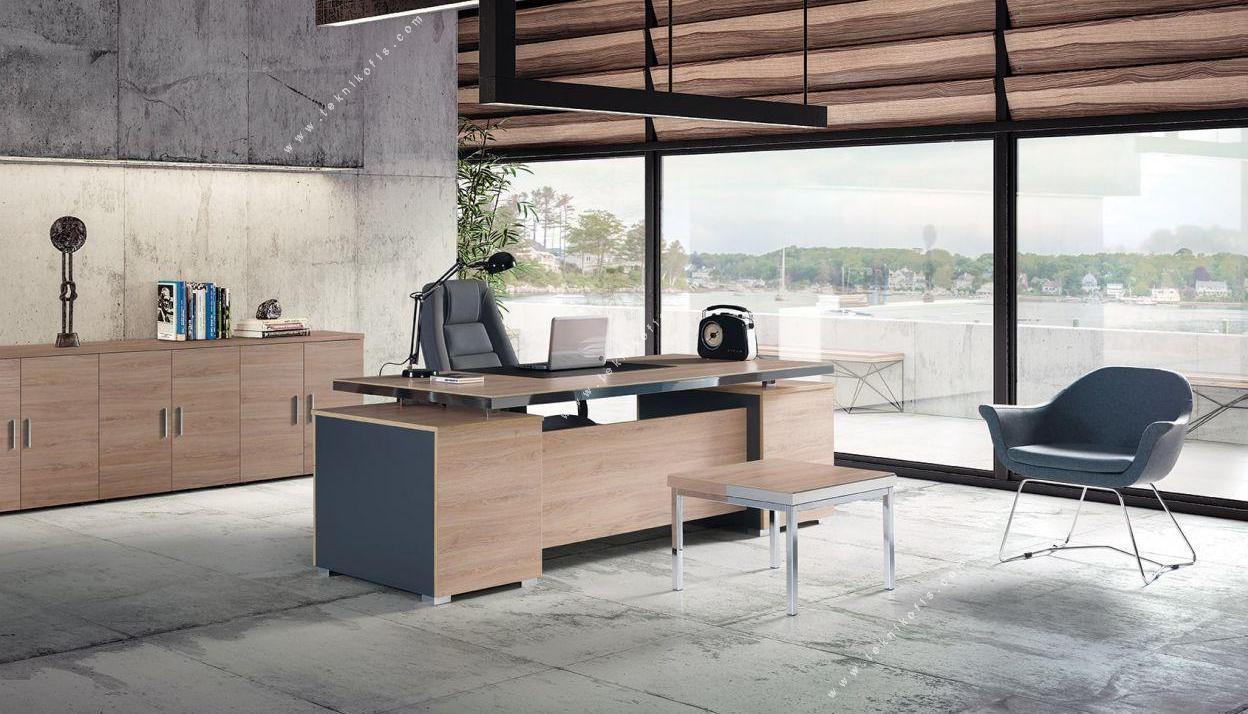 pelle ofis mobilya takımı